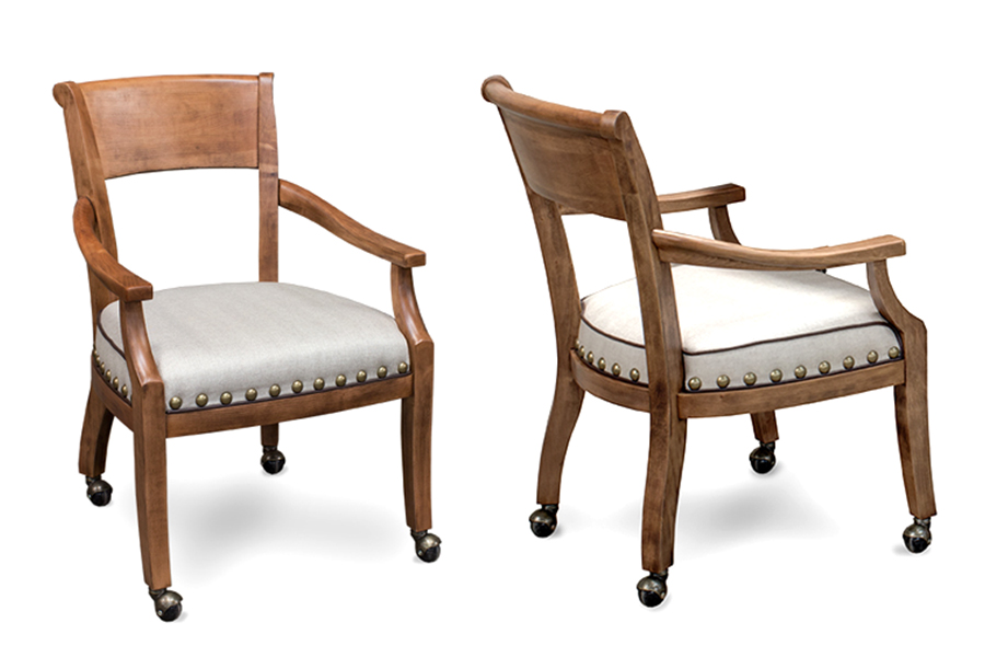 Pictured in Tobacco Maple with Acacia, Linen Fabric