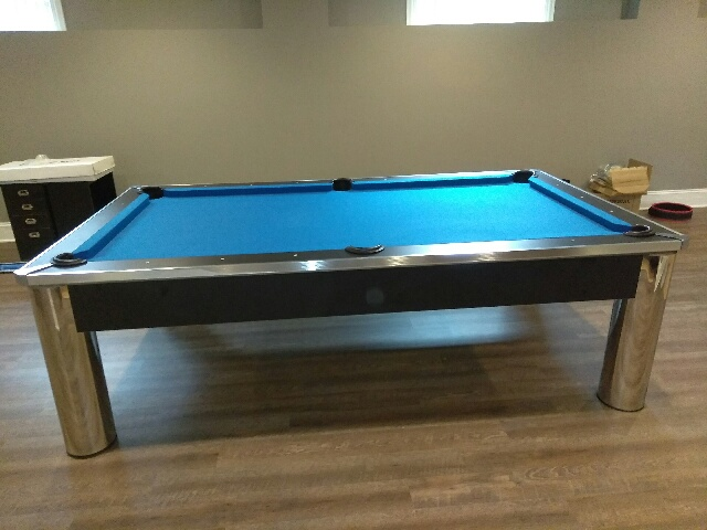 Imperial Spectrum Pool Table · Leisure Electric Blue Felt