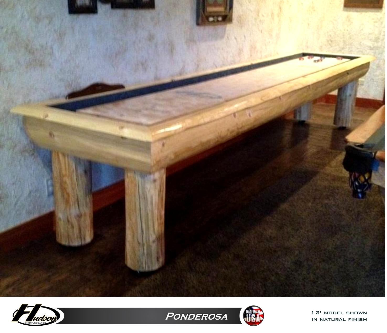 Ponderosa Shuffleboard Table GameTablesOnlinecom - Ponderosa pool table