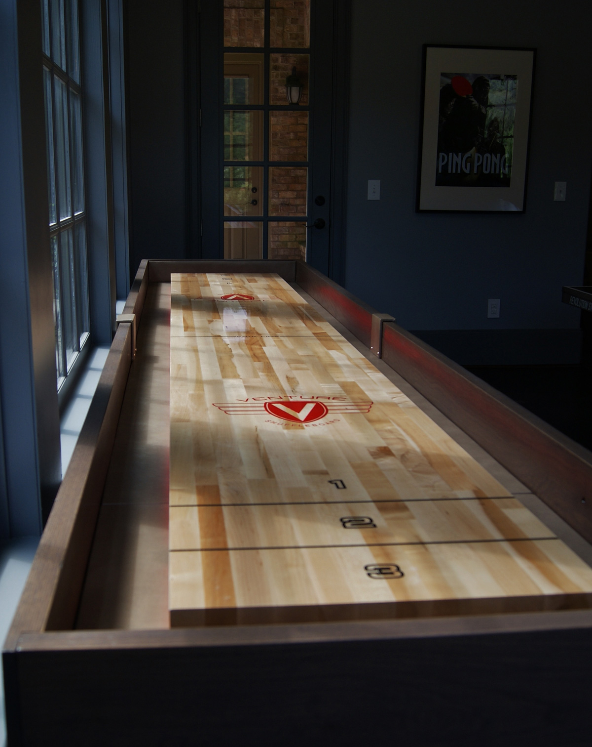 table tabletop product uncommongoods board shuffle game shuffleboard thumbnail wooden