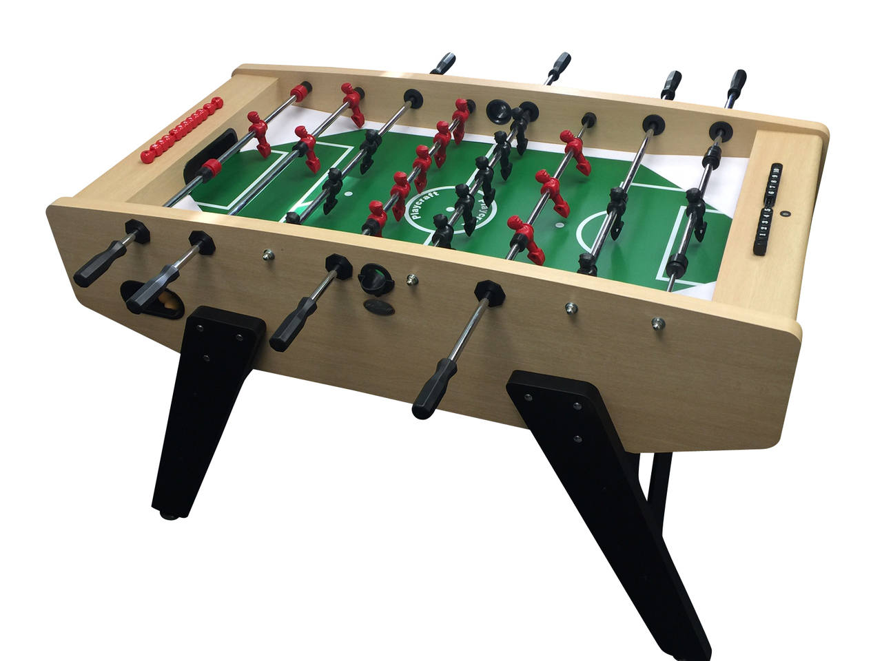 57 3 Light Maple Milan European Foosball Table