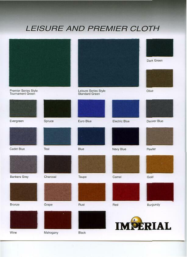 Imperial Cloth and felt options