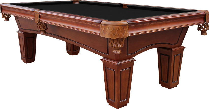 Chestnut St Lawrence Piece Slate Pool Table With Leather Drop - Pool table without slate