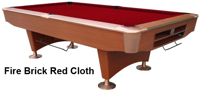 Cherry with Fire Brick Red Cloth