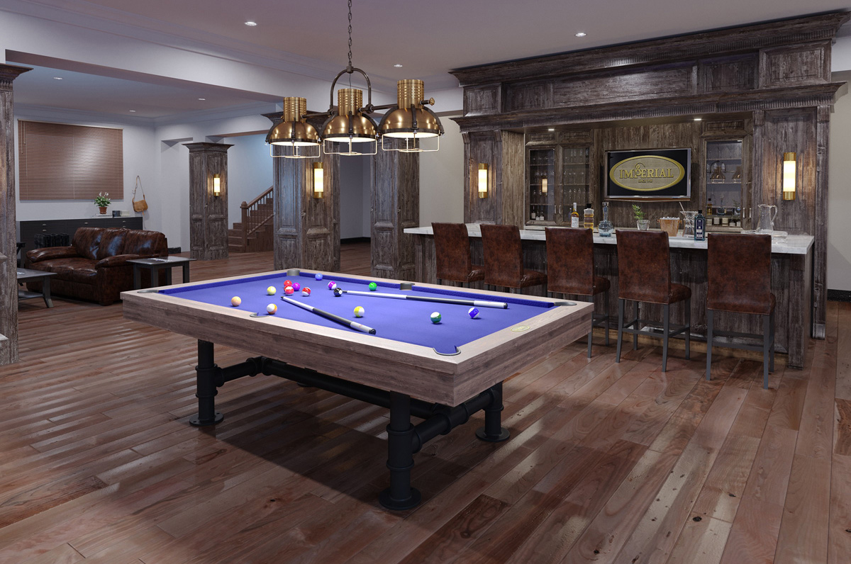 8 Imperial Bedford Weathered Oak Pool Table
