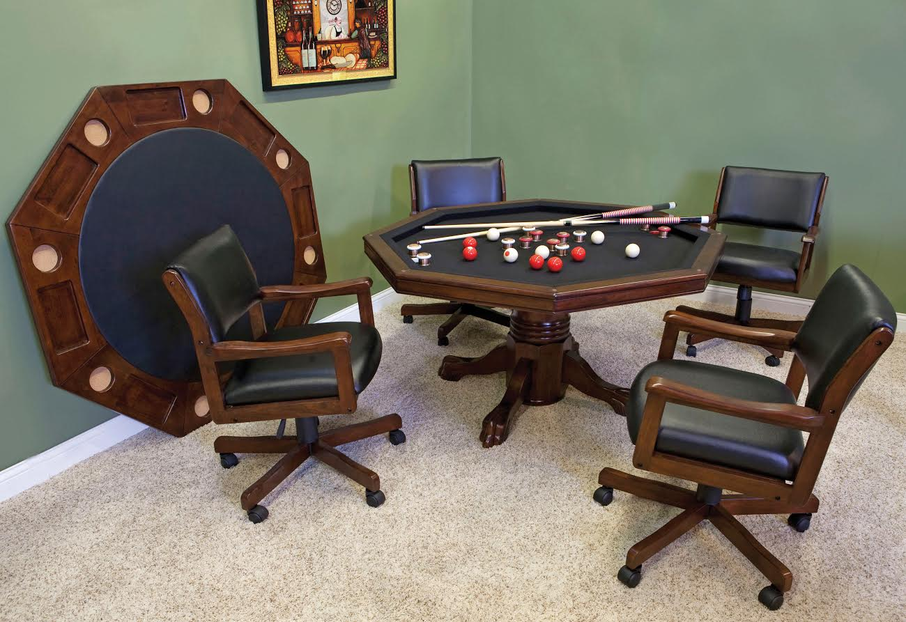 Poker table chairs - Warm Chestnut Finish
