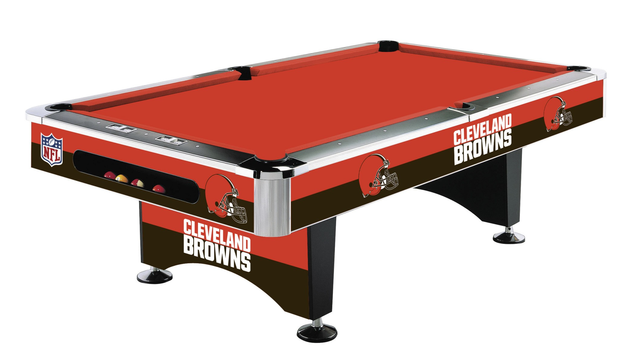 CLEVELAND BROWNS 8-FT. POOL TABLE