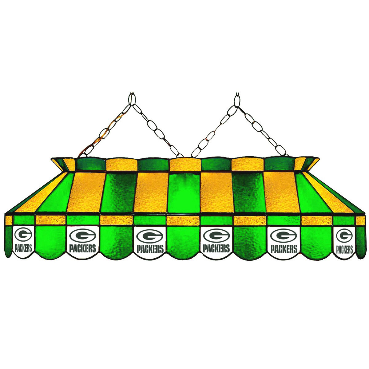 GREEN BAY PACKERS 40-IN. STAINED GLASS POOL TABLE LAMP