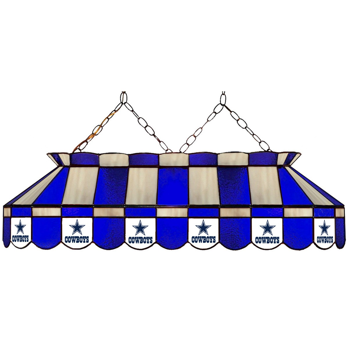 DALLAS COWBOYS 40-IN. STAINED GLASS POOL TABLE LAMP