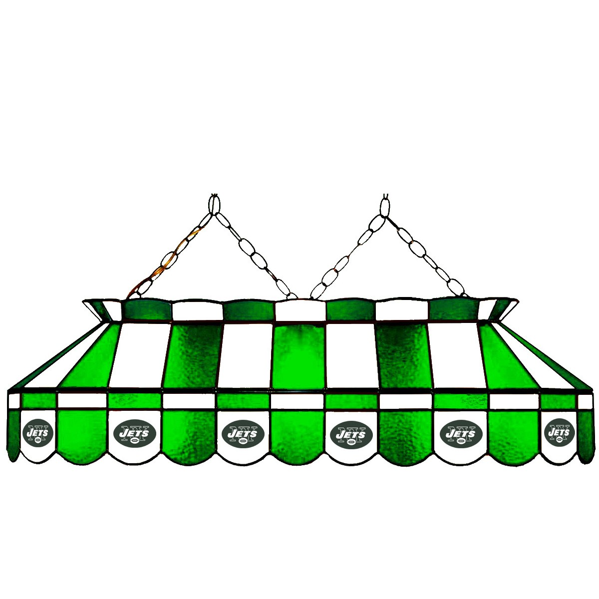 NEW YORK JETS 40-IN. STAINED GLASS POOL TABLE LAMP