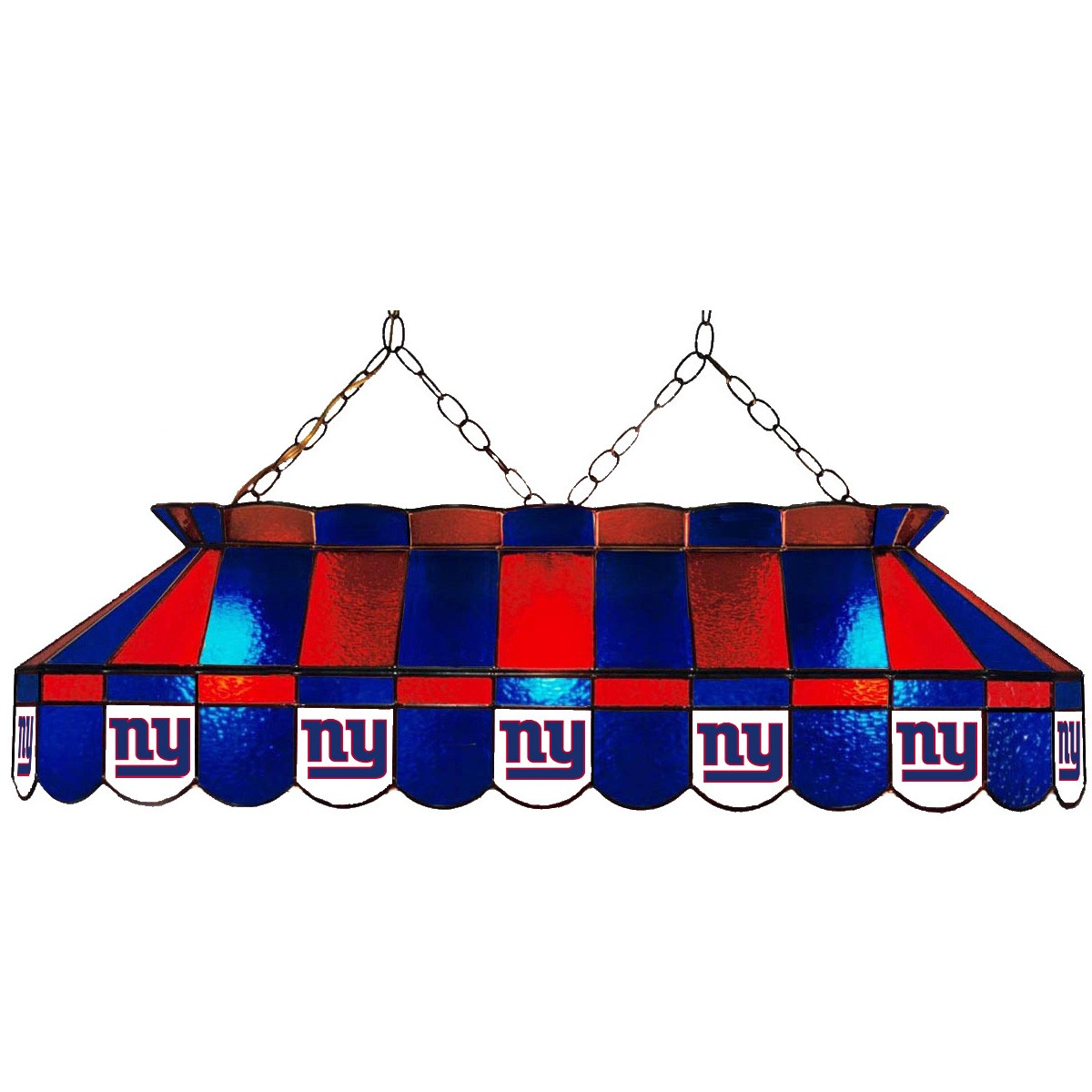 NEW YORK GIANTS 40-IN. STAINED GLASS POOL TABLE LAMP