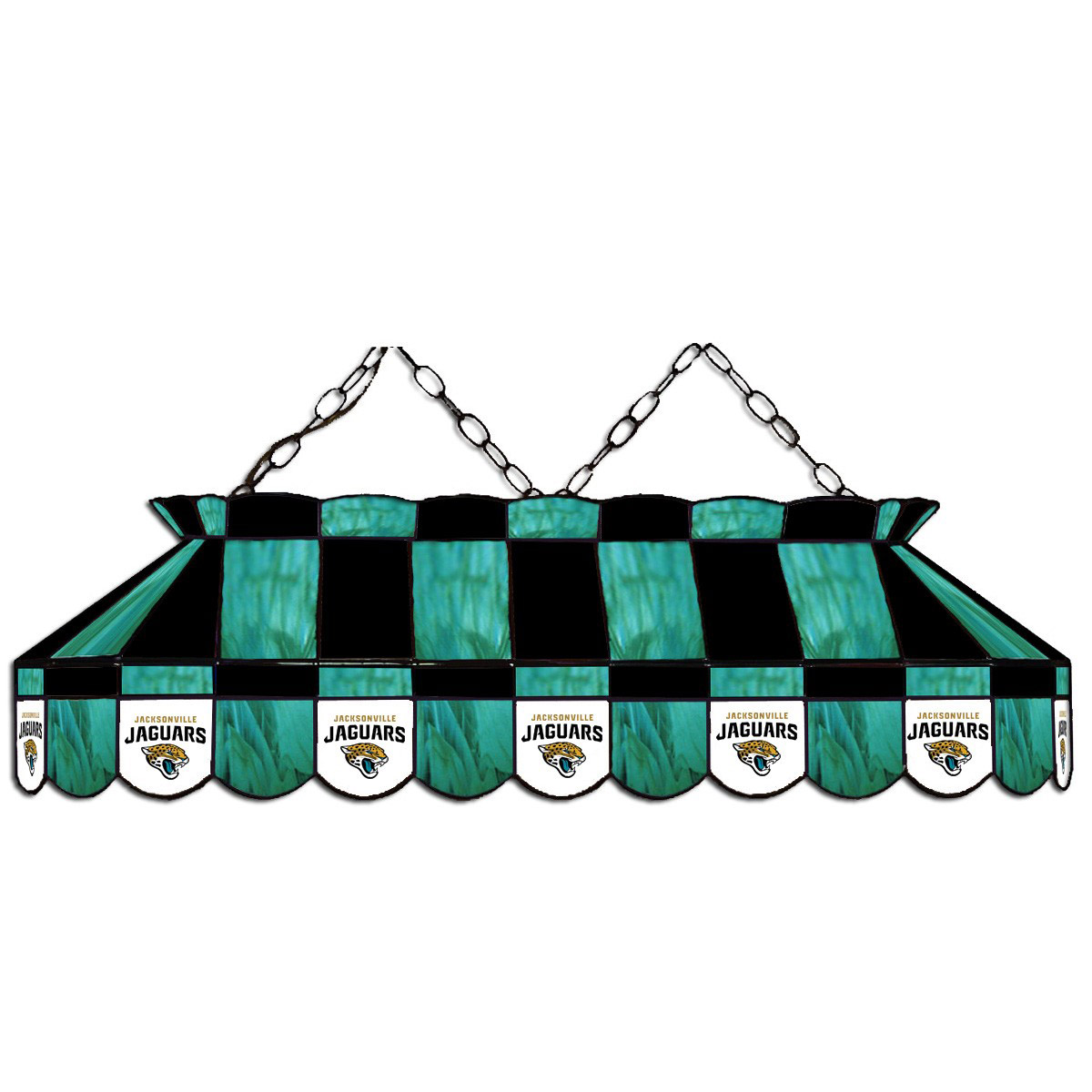 JACKSONVILLE JAGUARS 40-IN. STAINED GLASS POOL TABLE LAMP