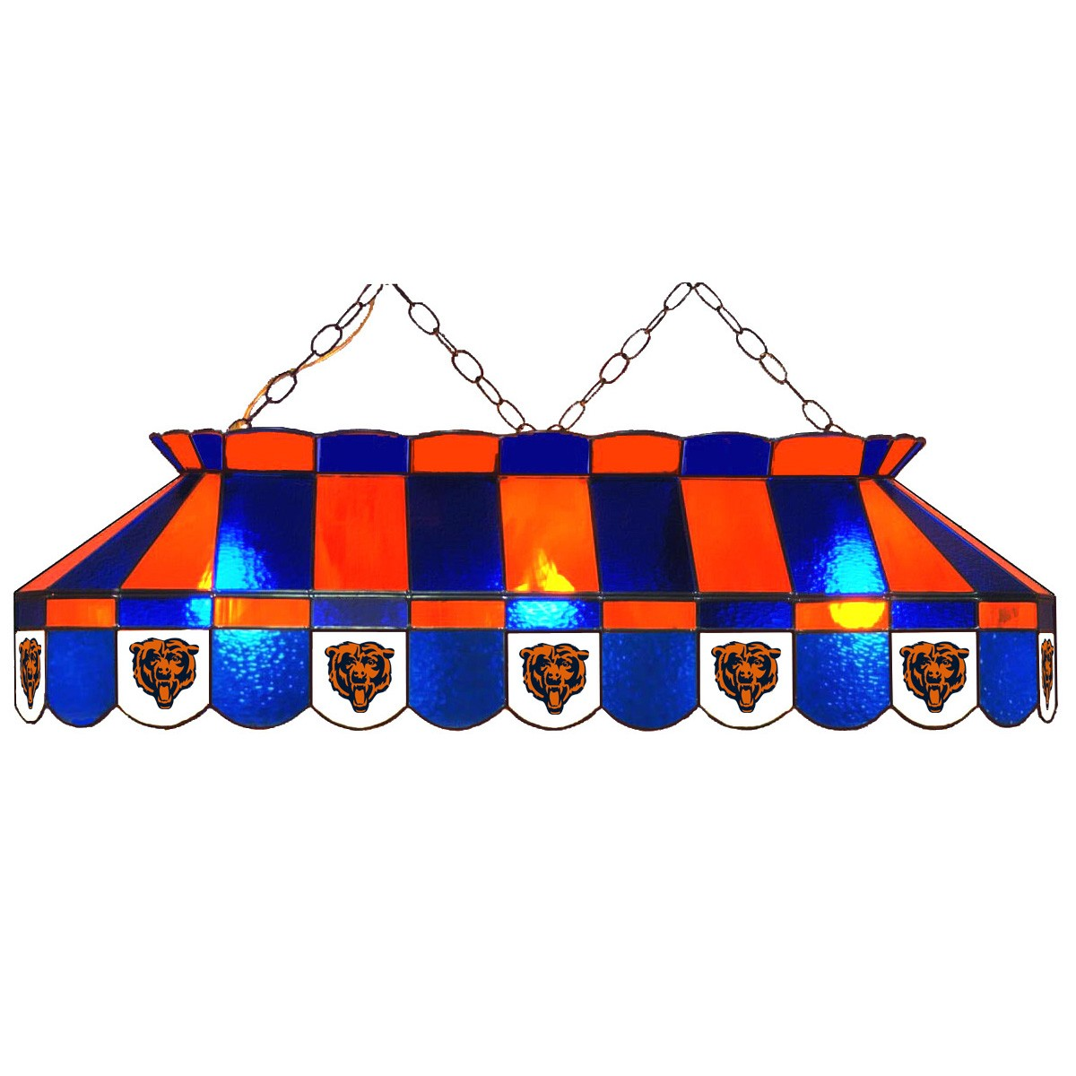 CHICAGO BEARS 40-IN. STAINED GLASS POOL TABLE LAMP