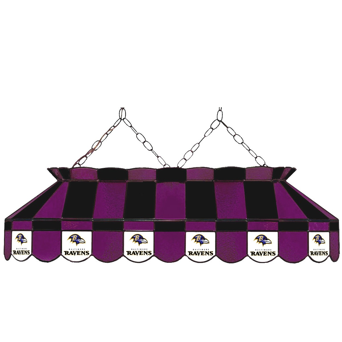 BALTIMORE RAVENS 40-IN. STAINED GLASS POOL TABLE LAMP
