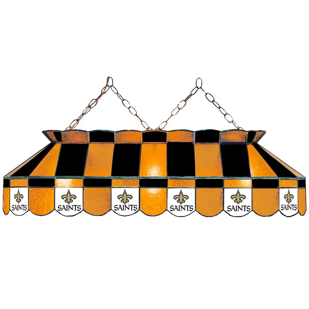 NEW ORLEANS SAINTS 40-IN. STAINED GLASS POOL TABLE LAMP