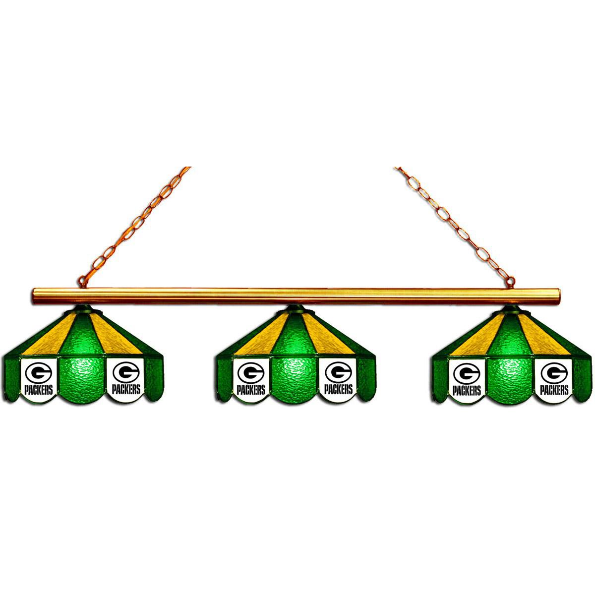 GREEN BAY PACKERS 3 SHADE GLASS LAMP