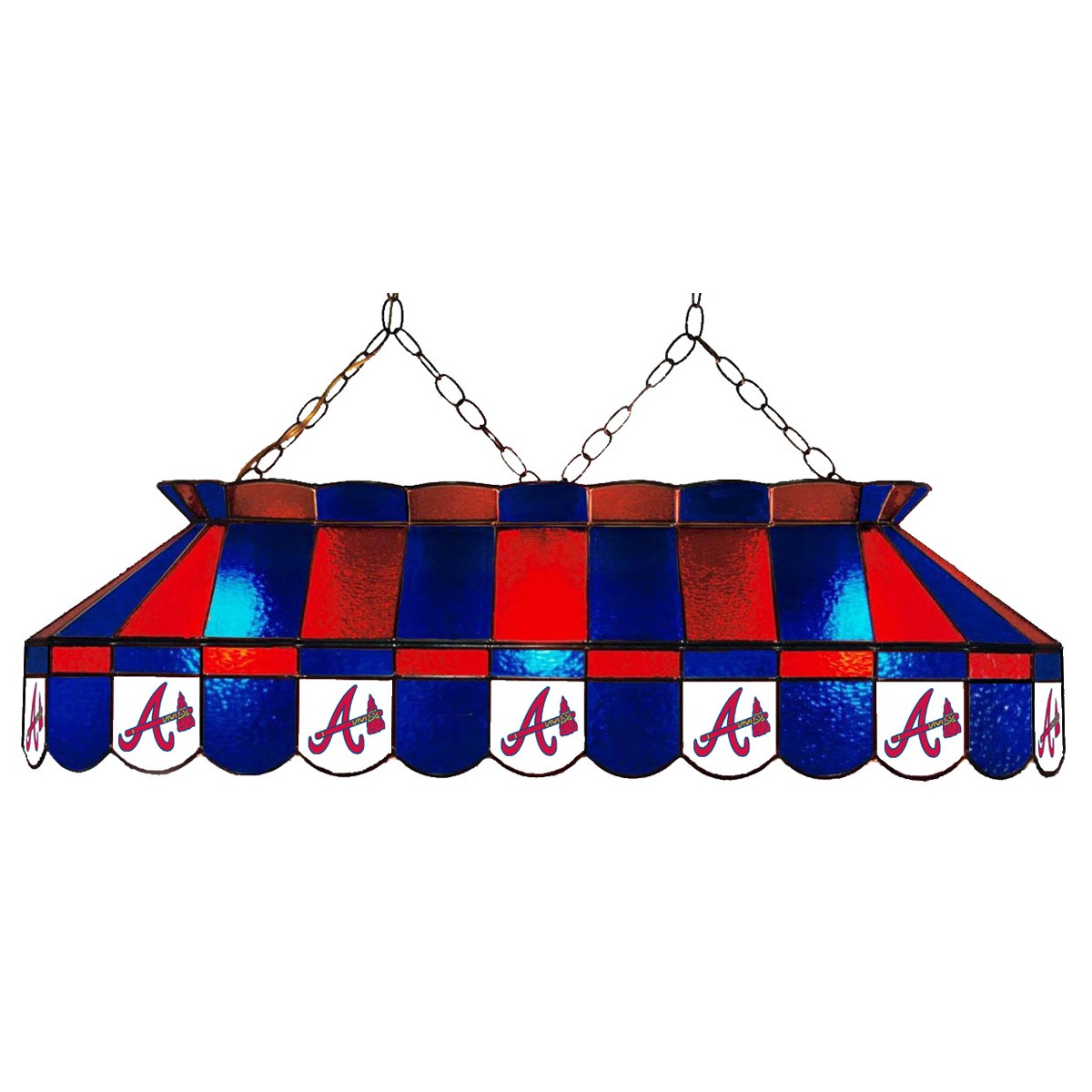 ATLANTA BRAVES 40-IN. STAINED GLASS POOL TABLE LAMP