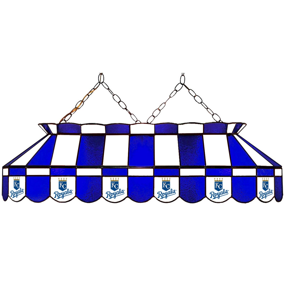 KANSAS CITY ROYALS 40-IN. STAINED GLASS POOL TABLE LAMP