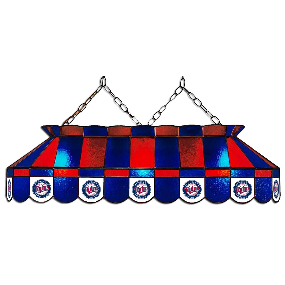 MINNESOTA TWINS 40-IN. STAINED GLASS POOL TABLE LAMP