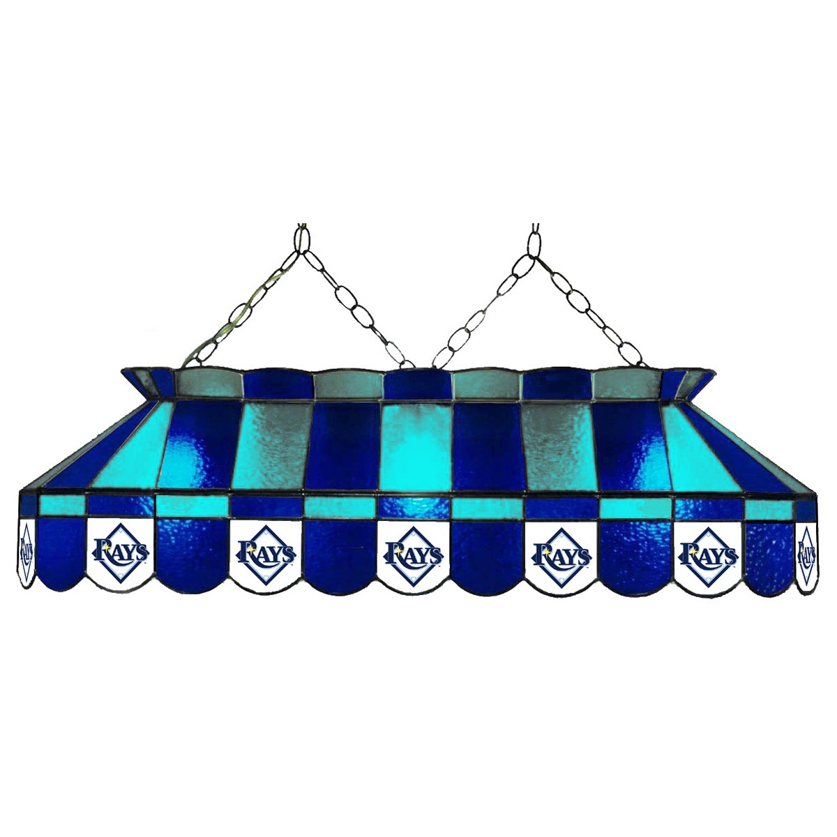 TAMPA BAY RAYS 40-IN. STAINED GLASS POOL TABLE LAMP