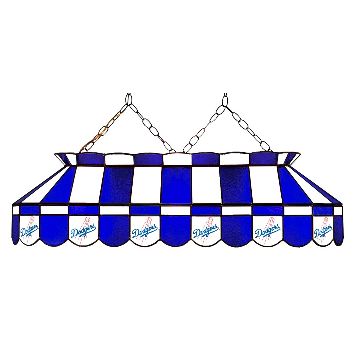 LOS ANGELES DODGERS 40-IN. STAINED GLASS POOL TABLE LAMP