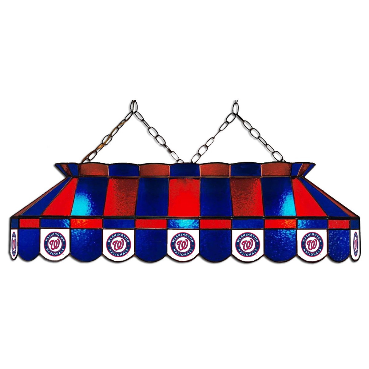 WASHINGTON NATIONALS 40-IN. STAINED GLASS POOL TABLE LAMP