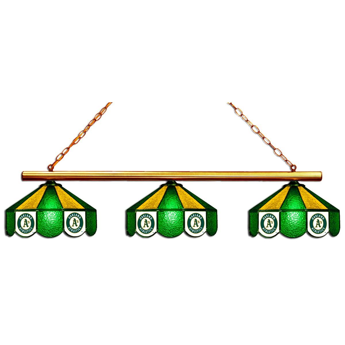 OAKLAND ATHLETICS 3 SHADE GLASS LAMP