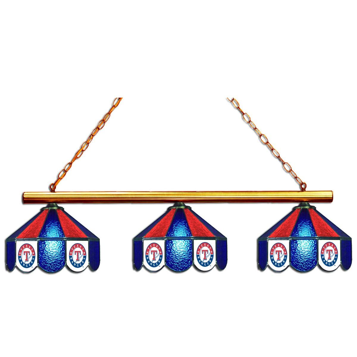 8' MLB Texas Rangers Team Logo Pool Table
