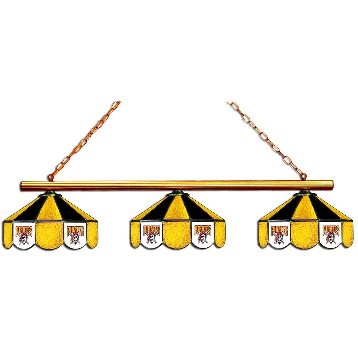 PITTSBURGH PIRATES 3 SHADE GLASS LAMP