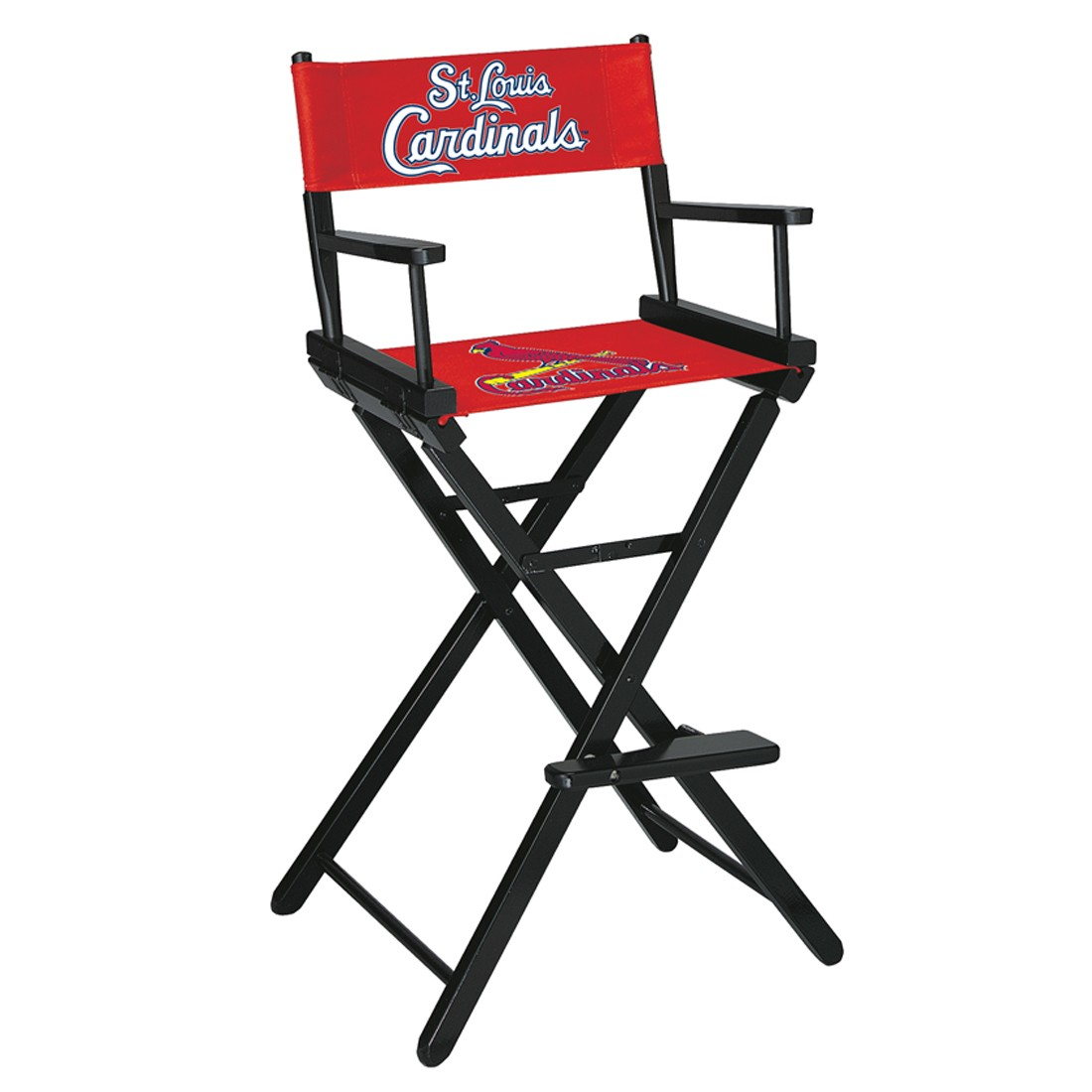 ST.LOUIS CARDINALS BAR HEIGHT DIRECTORS CHAIR