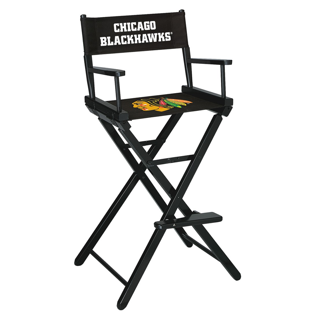 CHICAGO BLACKHAWKS® BAR HEIGHT DIRECTORS CHAIR