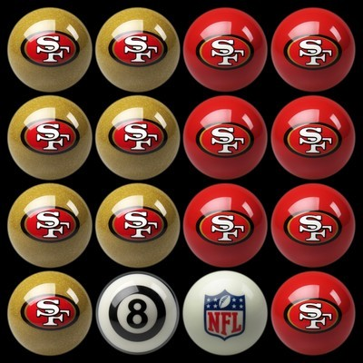 SAN FRANCISCO 49ERS HOME VS. AWAY BILLIARD BALL SET