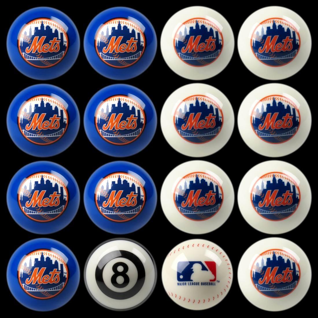 NEW YORK METS HOME VS. AWAY BILLIARD BALL SET