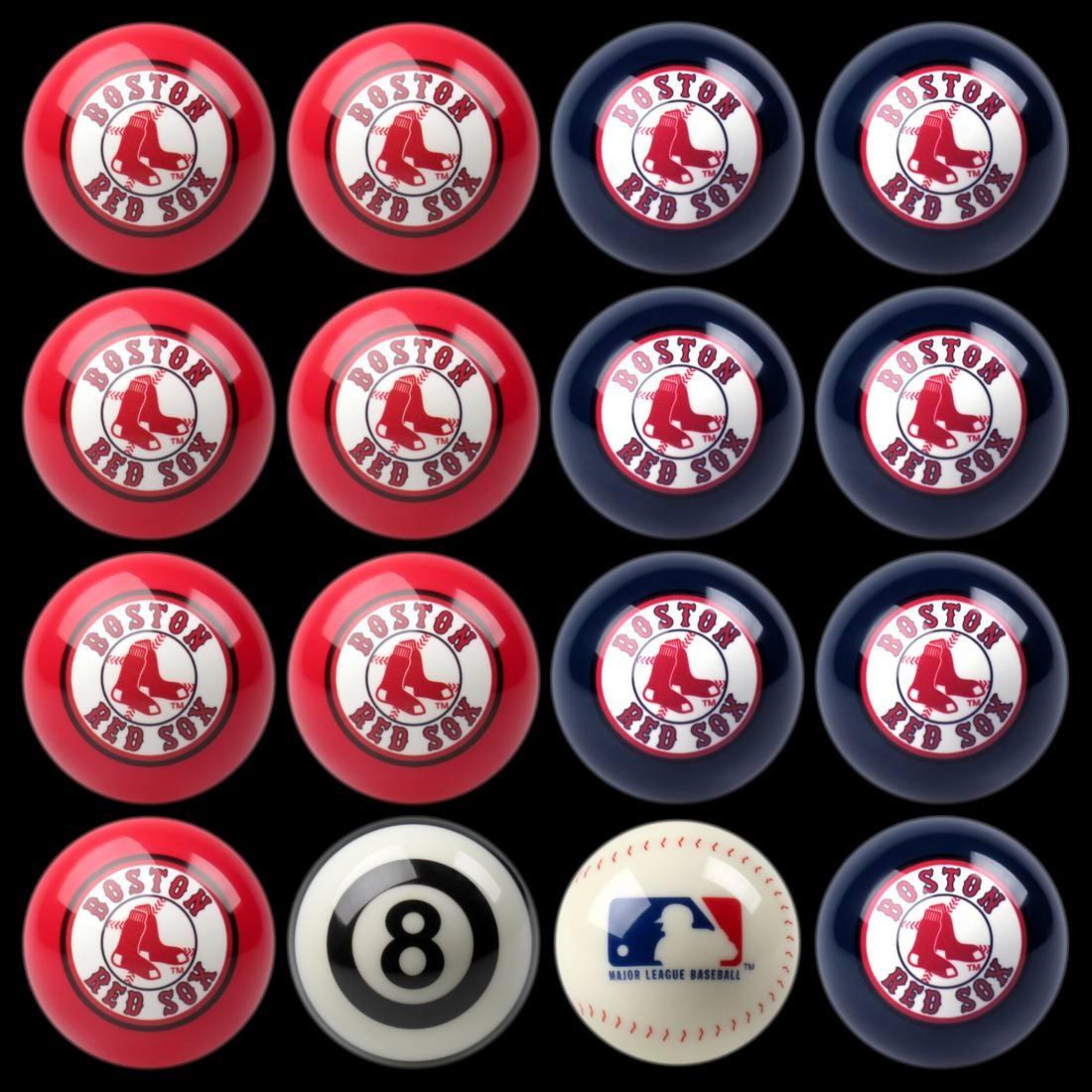 8 Mlb Boston Red Sox Team Logo Pool Table