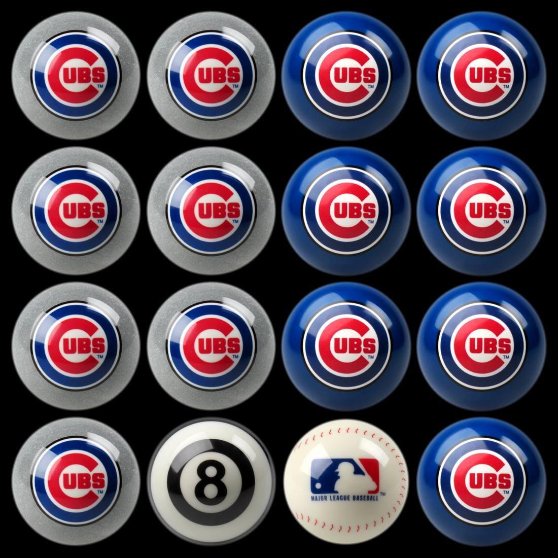 CHICAGO CUBS HOME VS. AWAY BILLIARD BALL SET