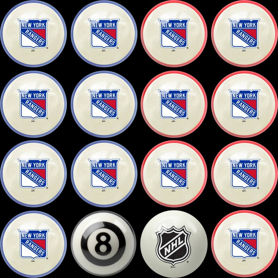NEW YORK RANGERS® HOME VS. AWAY BILLIARD BALL SET