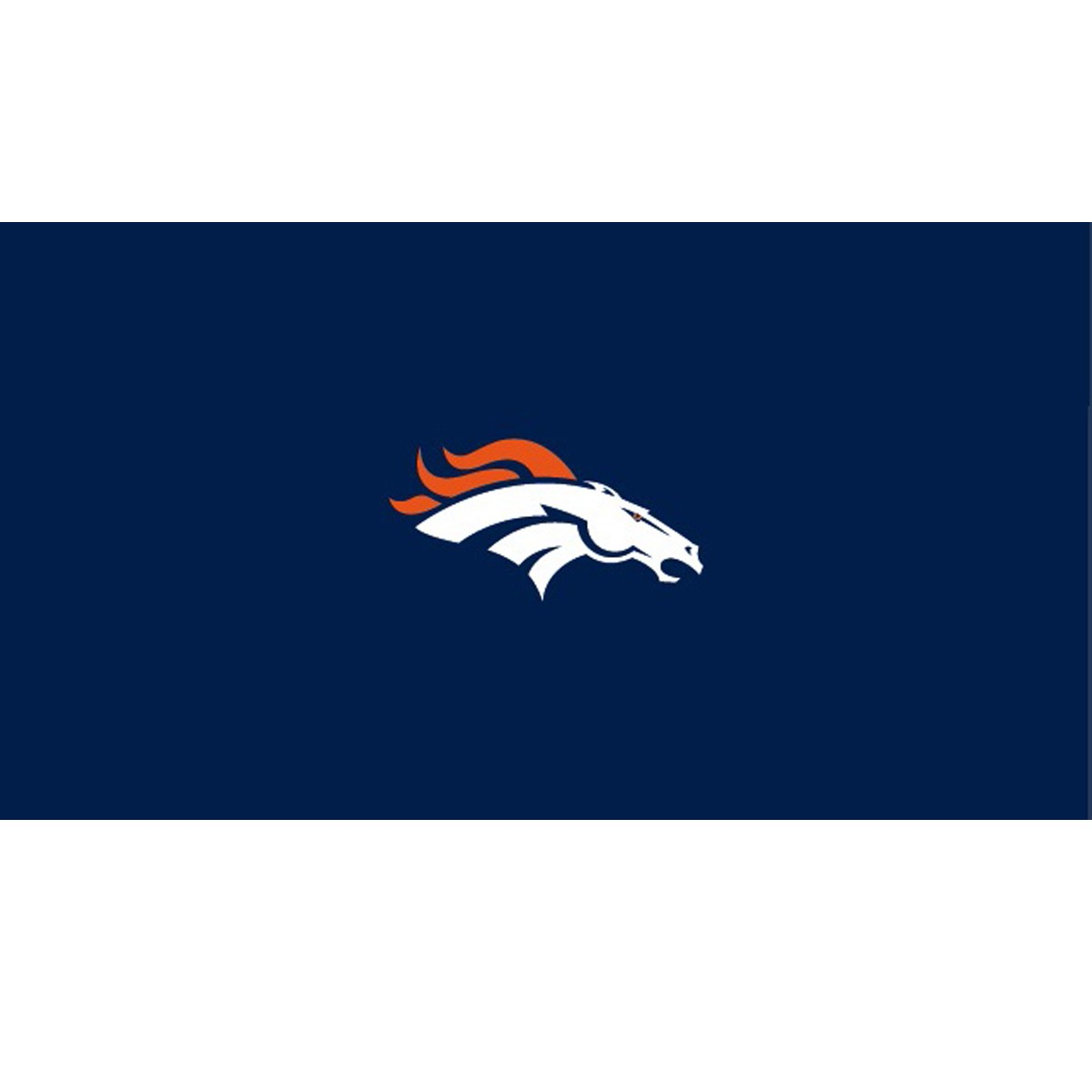 DENVER BRONCOS 8-FOOT BILLIARD CLOTH