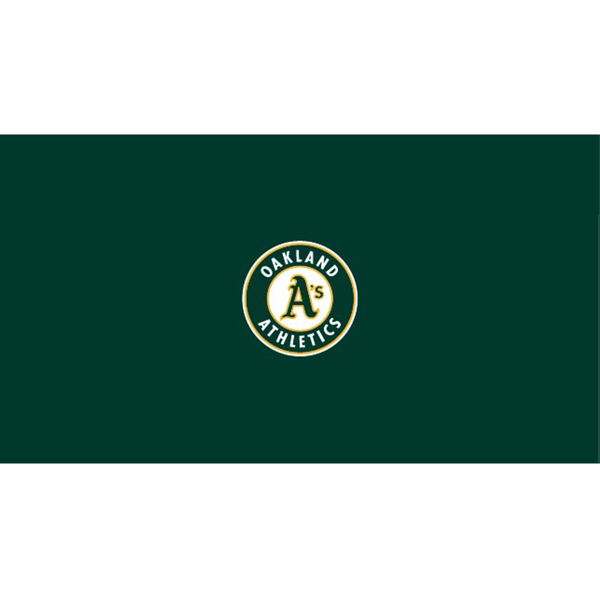 OAKLAND ATHLETICS 8-FOOT BILLIARD CLOTH