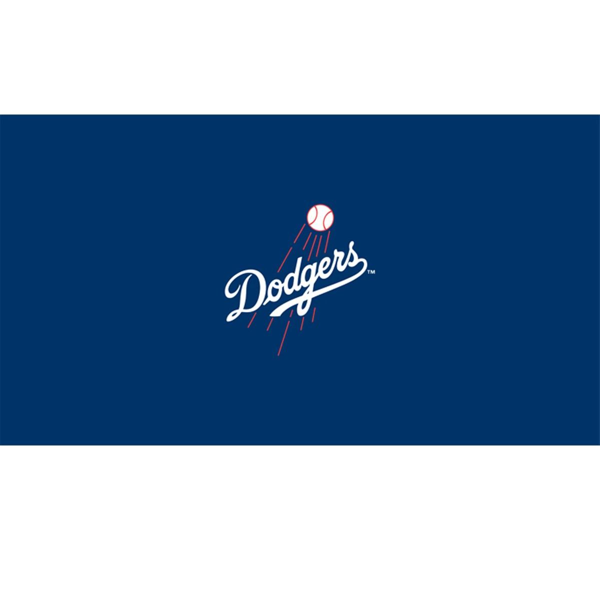 8' MLB Los Angeles Dodgers Team Logo Pool Table - GameTablesOnline.com