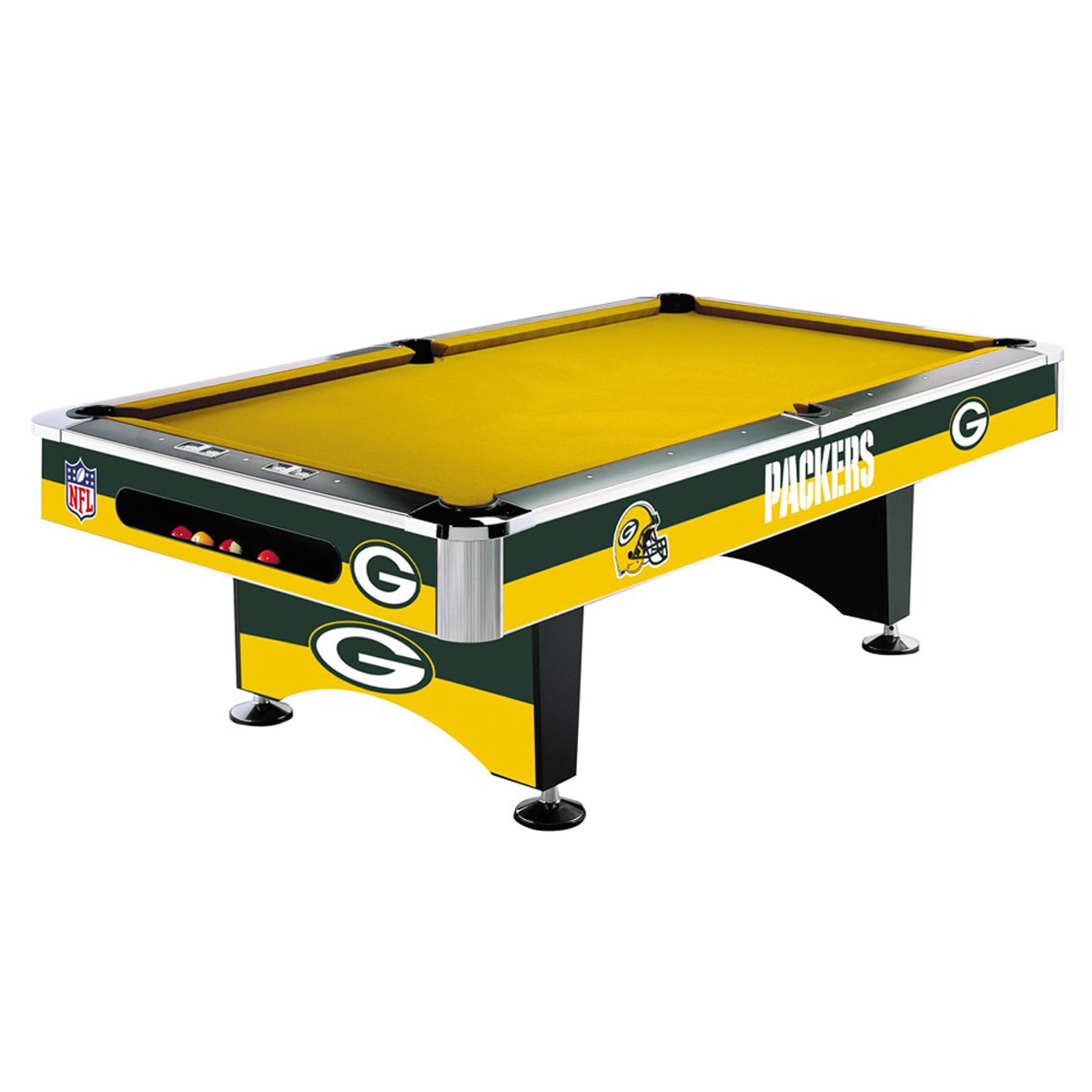 GREEN BAY PACKERS 8-FT. POOL TABLE