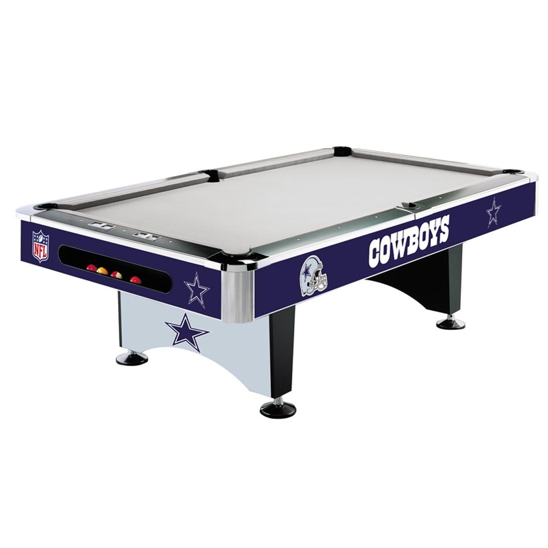 8' NFL Dallas Cowboys Team Logo Pool Table