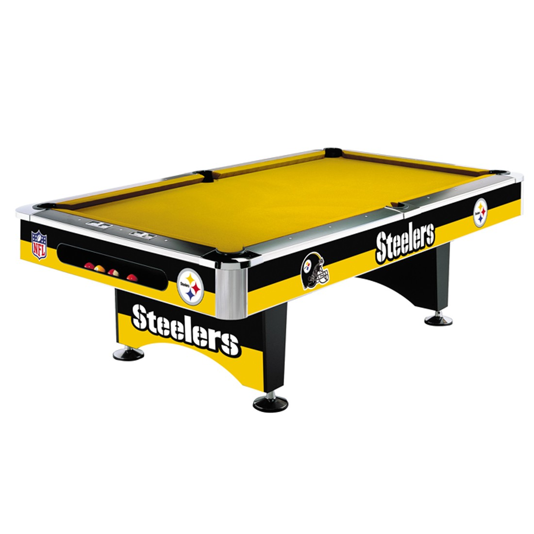 PITTSBURGH STEELERS 8-FT. POOL TABLE