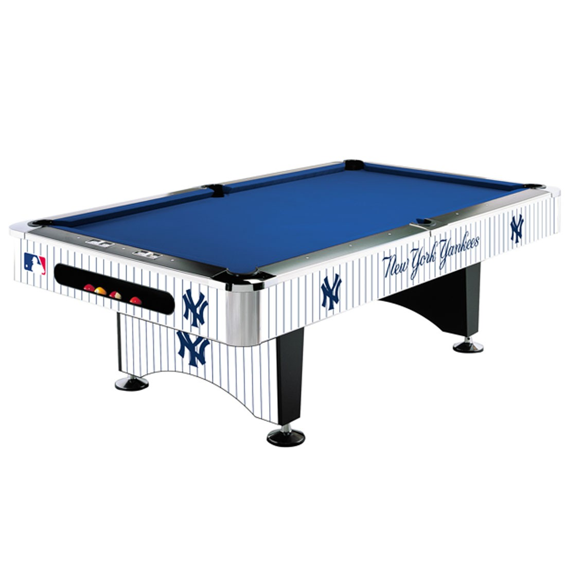 8 Mlb New York Yankees Team Logo Pool Table