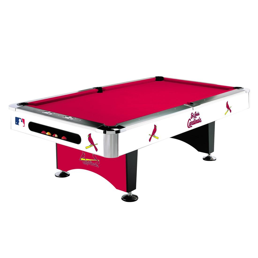 8' MLB St Louis Cardinals Team Logo Pool Table