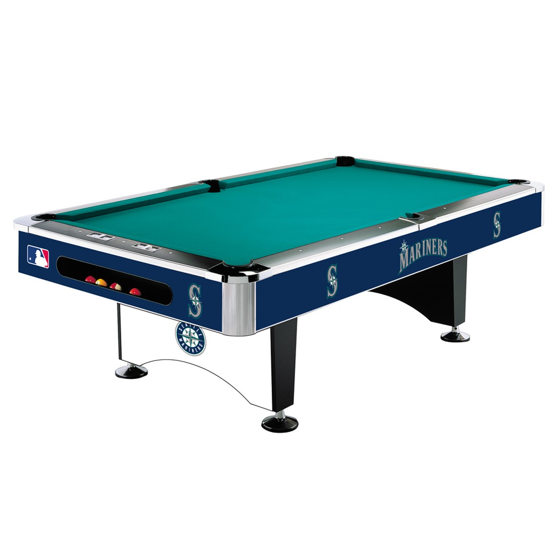 SEATTLE MARINERS 8-FT. POOL TABLE