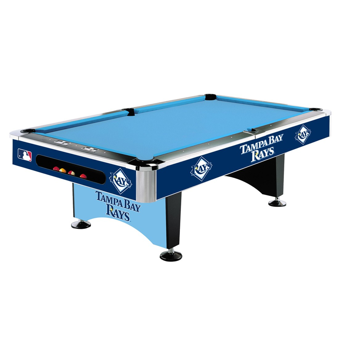 TAMPA BAY RAYS 8-FT. POOL TABLE