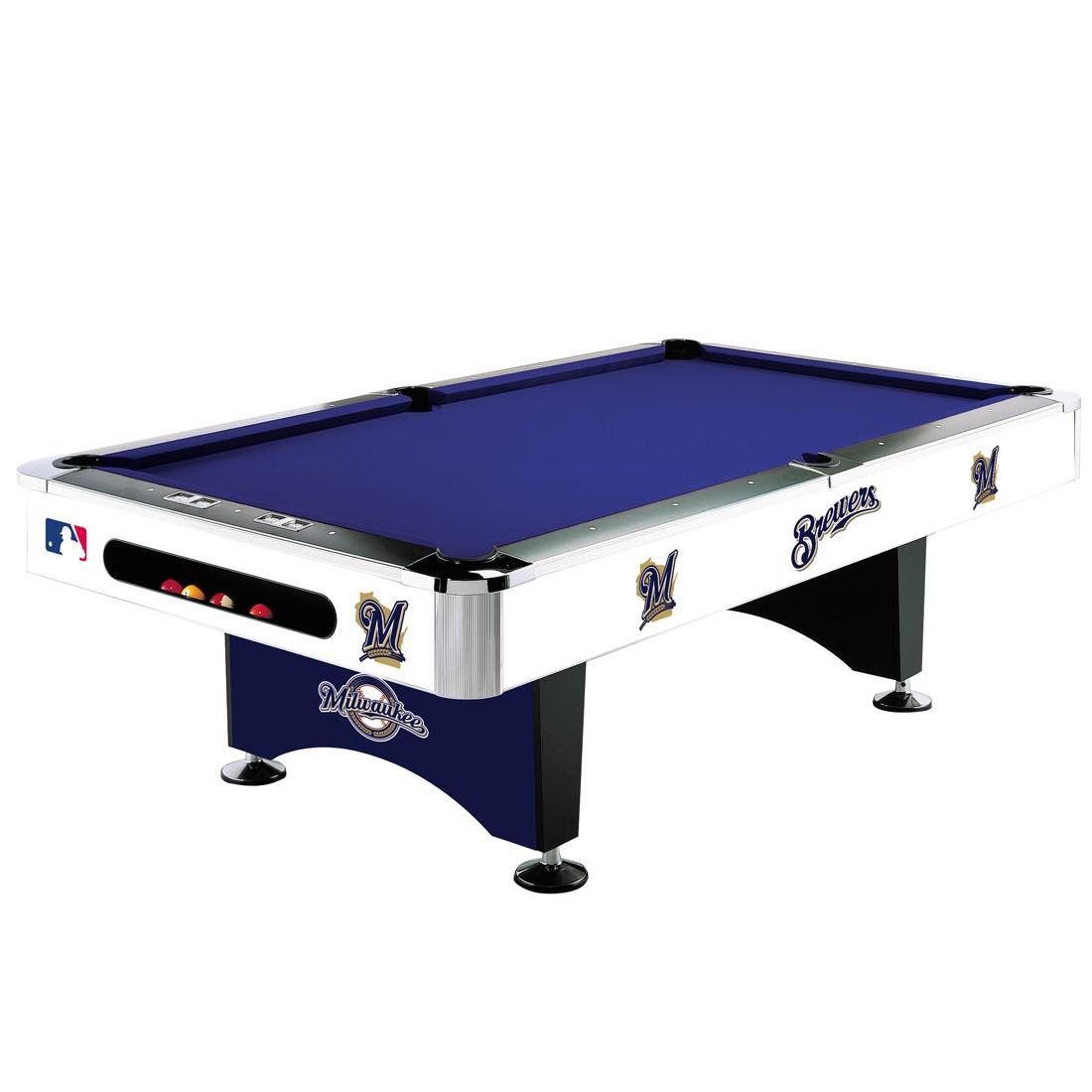 8' MLB Milwaukee Brewers Team Logo Pool Table