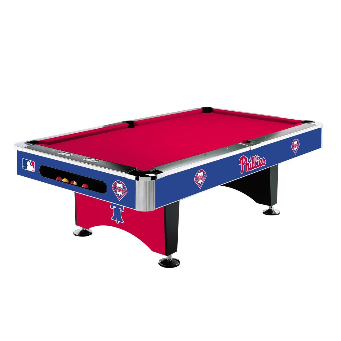 8' MLB Philadelphia Phillies Team Logo Pool Table