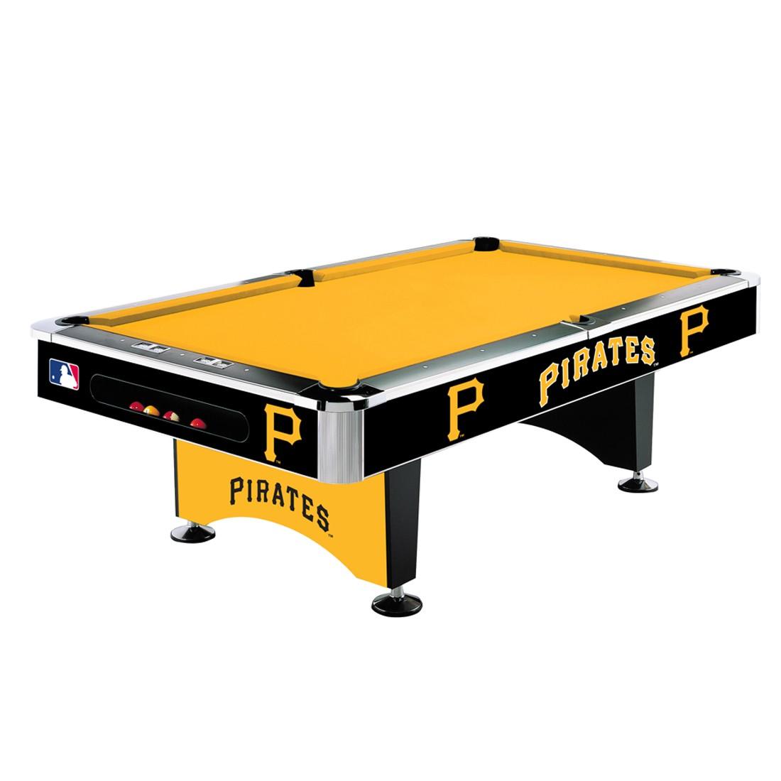 8' MLB Pittsburgh Pirates Team Logo Pool Table
