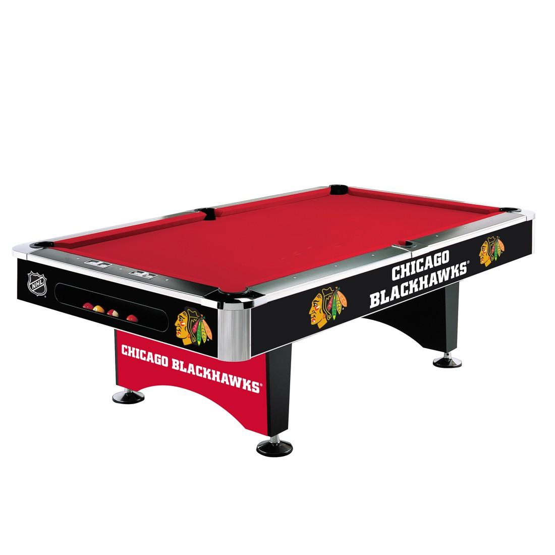 CHICAGO BLACKHAWKS® 8-FT. POOL TABLE
